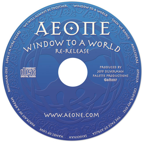 Aeone - Window To A World - CD - Nashville-Mt. Juliet CD Design