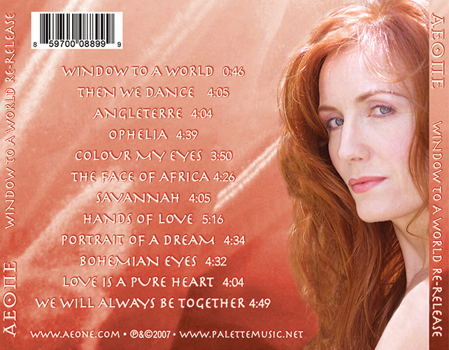 Aeone - Window To A World - Traycard - Nashville-Mt. Juliet CD Design