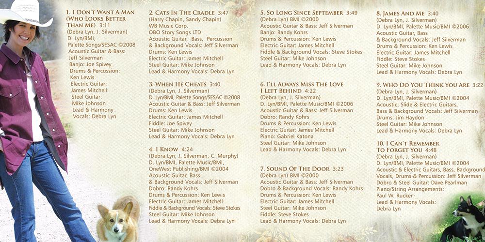 Debra Lyn - I Can't Remember To Forget You - Inside Booklet - Nashville-Mt. Juliet CD Design