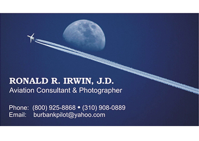 Ron Irwin Nashville Business Card Design