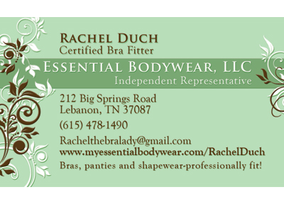 Essential Bodywear Nashville Business Card Design