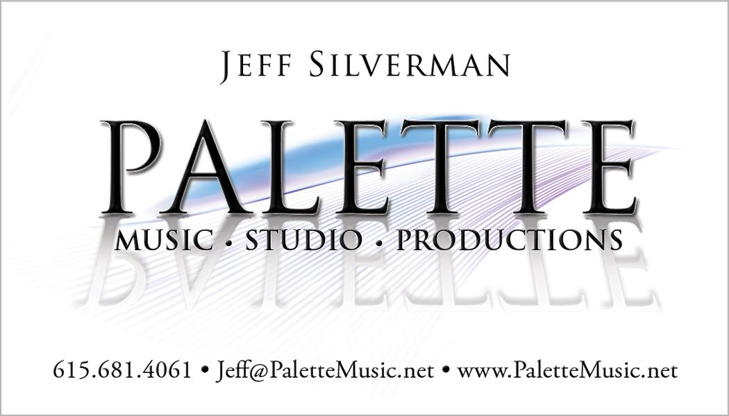 Palette Music Studio Productions Business Card