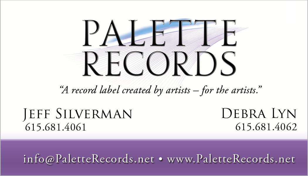 Palette Records, Mt. Juliet / Nashville Business Card