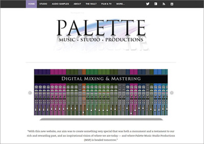 Palette Music Studio Productions – Nashville Website Design