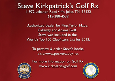 Golf Rx Nashville Postcard Design