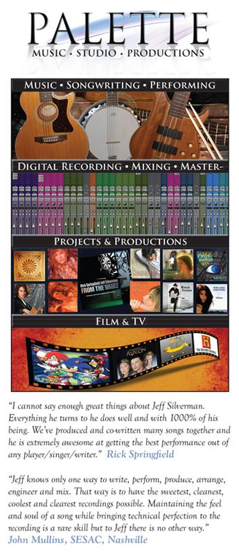 Palette Music Studio Productions Brochure
