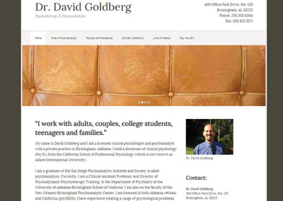 Dr. David Goldberg Nashville Website Design