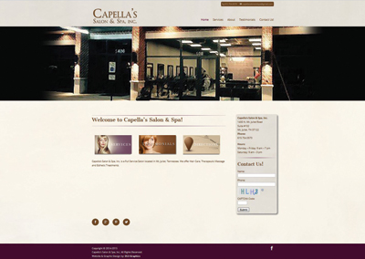 Capella's Salon & Spa – Mt. Juliet Website Design