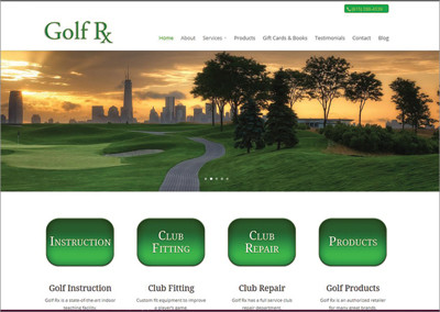 Golf Rx – Mount Juliet, TN Website Design