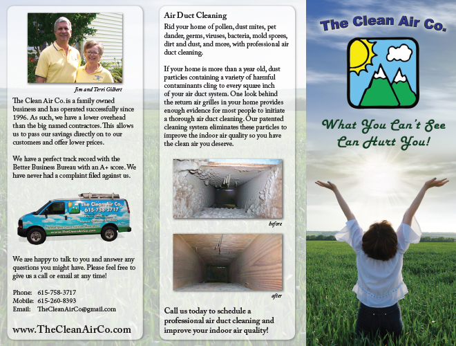 Clean Air Company Brochure (Ouside)