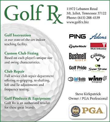 "Mt. Juliet, TN's Golf RX - ad for ""Tee Times"" - May 2015"