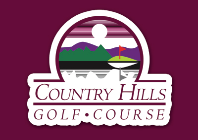 Country Hills Golf Course Hendersonville Rack Card Design