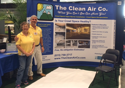 Clean Air Co Trade Show Display