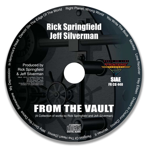 Rick-Springfield-Jeff-Silverman-From-The-Vault-Nashville-CD-Design-Disc
