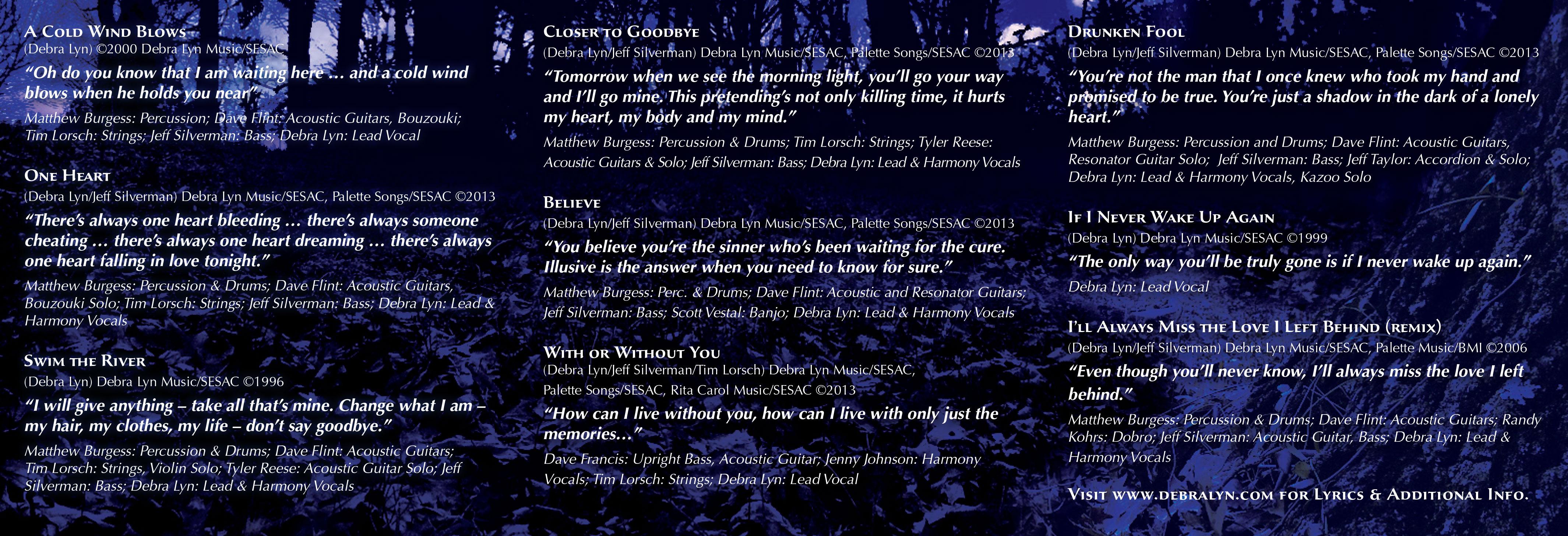 Debra Lyn-A Cold Wind Blows - Inside Booklet - Nashville-Mt. Juliet CD Design