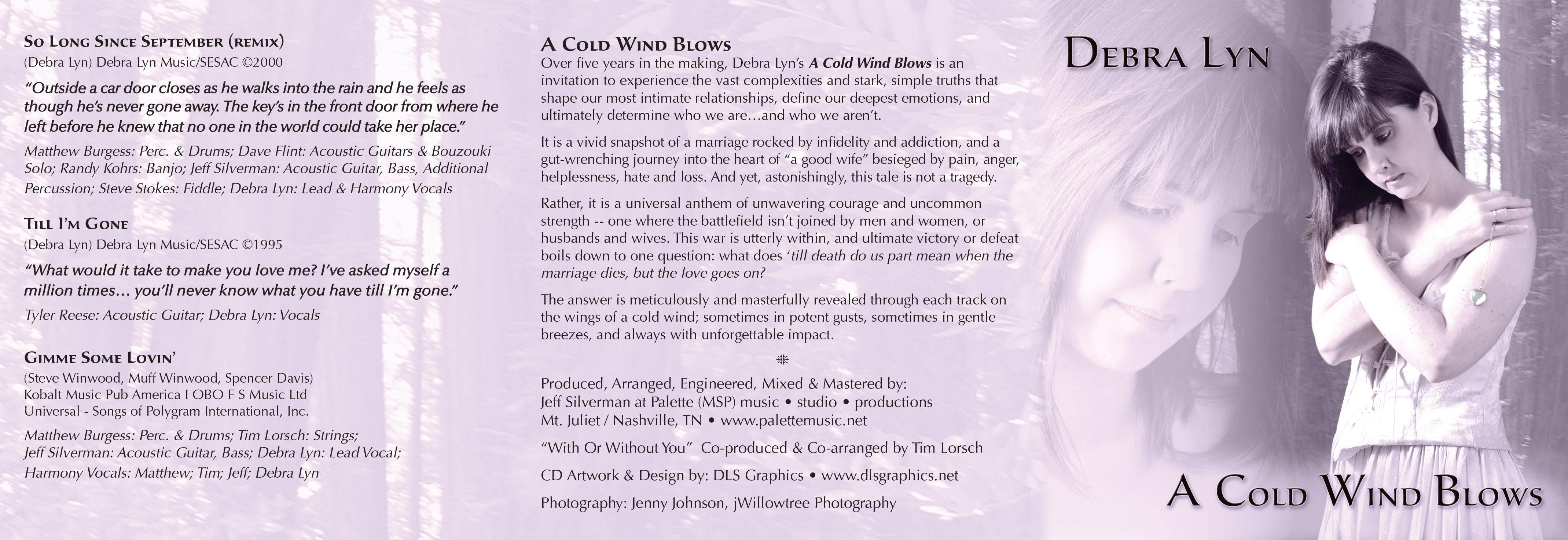 Debra Lyn-A Cold Wind Blows - Outside Booklet - Nashville-Mt. Juliet CD Design