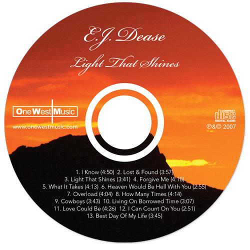 E.J. Dease - The Light That Shines - Traycard - Nashville-Mt. Juliet CD Design