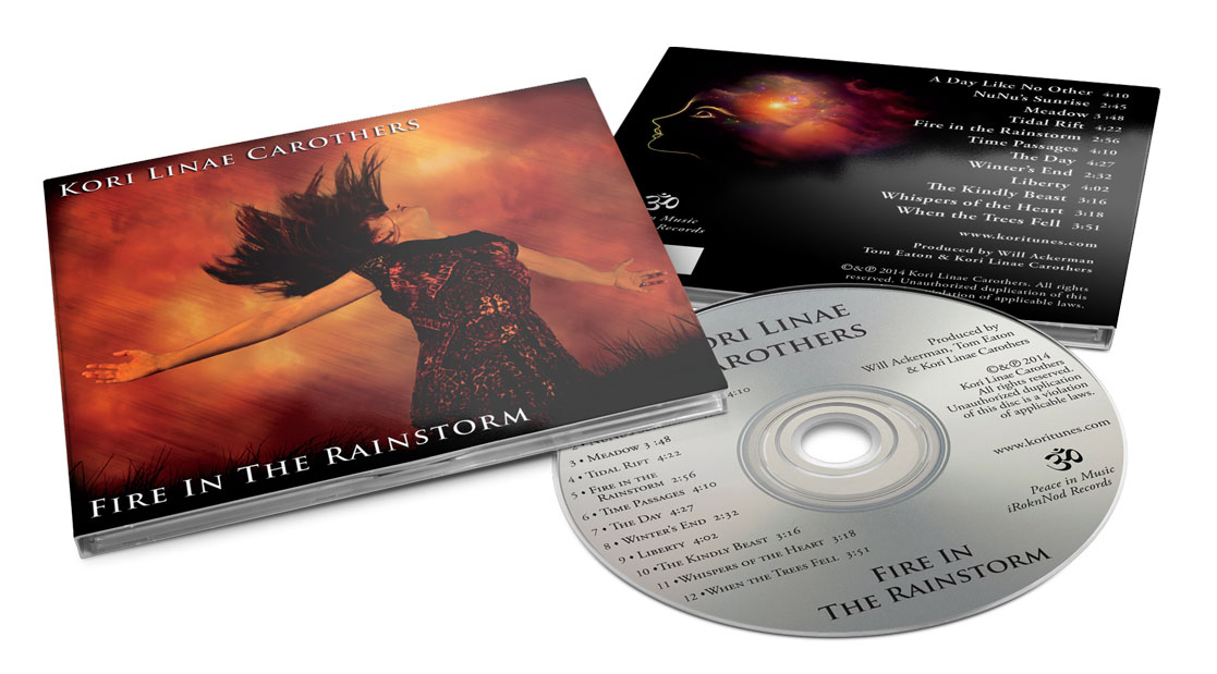 Kori Carothers - Fire In The Rainstorm - Digipak Design
