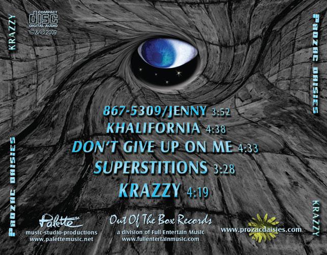 Prozac Daisies - Krazzy - Traycard - Nashville-Mt. Juliet CD Design