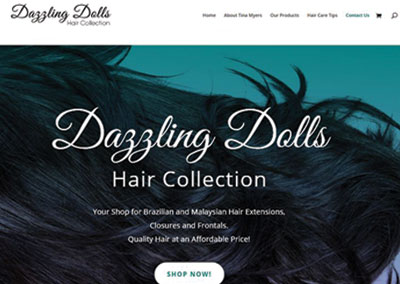 Dazzling Dolls Hair Collection Lebanon eCommerce Site