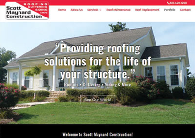 Scott Maynard Construction-Lebanon Construction Website