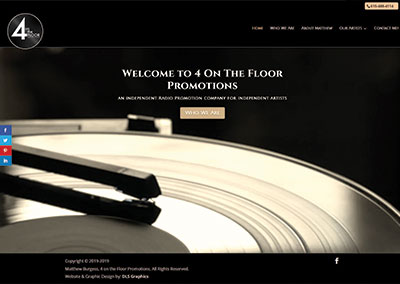 4 On The Floor-Nashville Music Website Design
