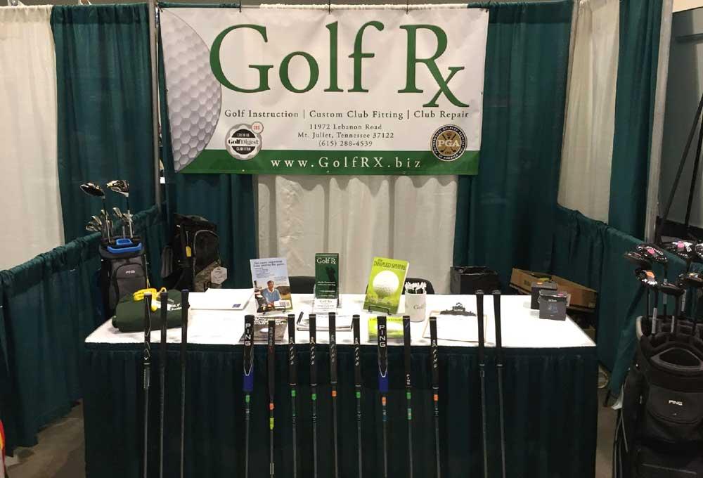 Golf Rx - Mount Juliet Banner Tradeshow Photo