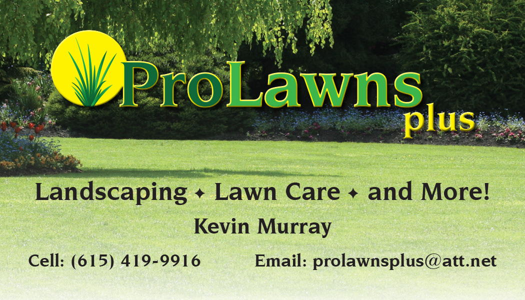 ProLawns Plus Business Card Front