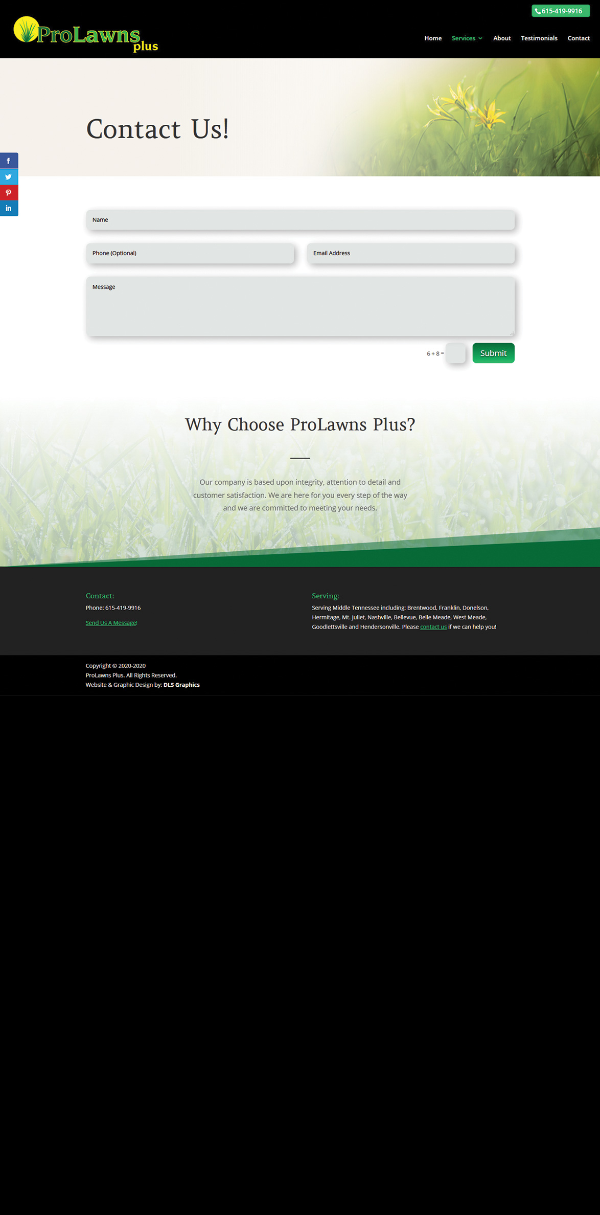 ProLawns Plus Contact