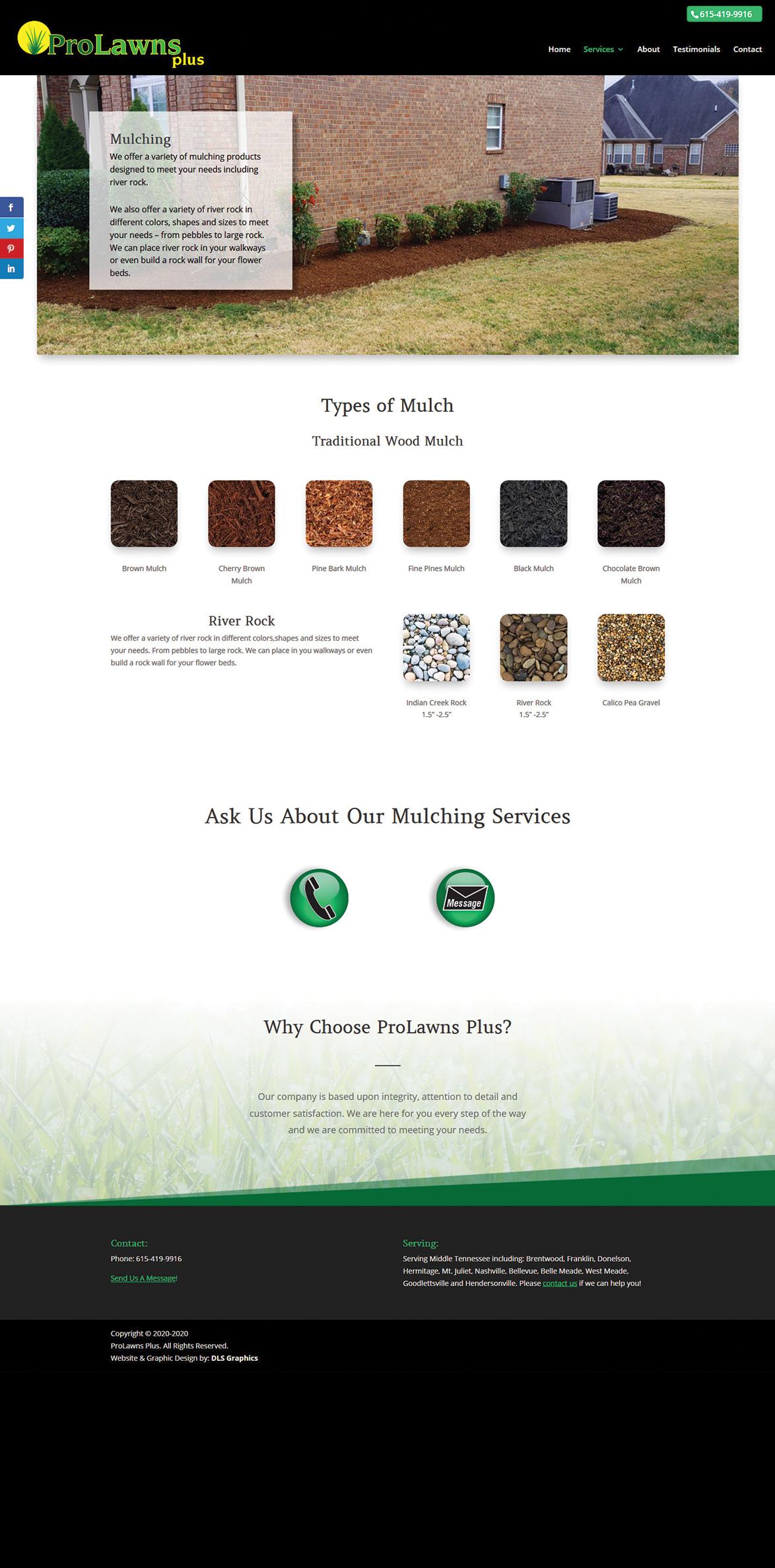 ProLawnsPlus-Mulching Services