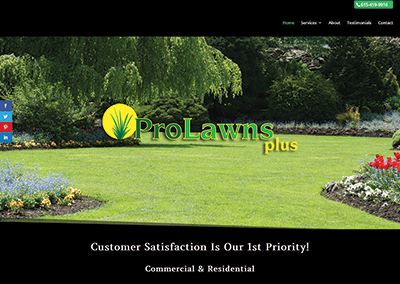ProLawns Plus – Nashville Website Design