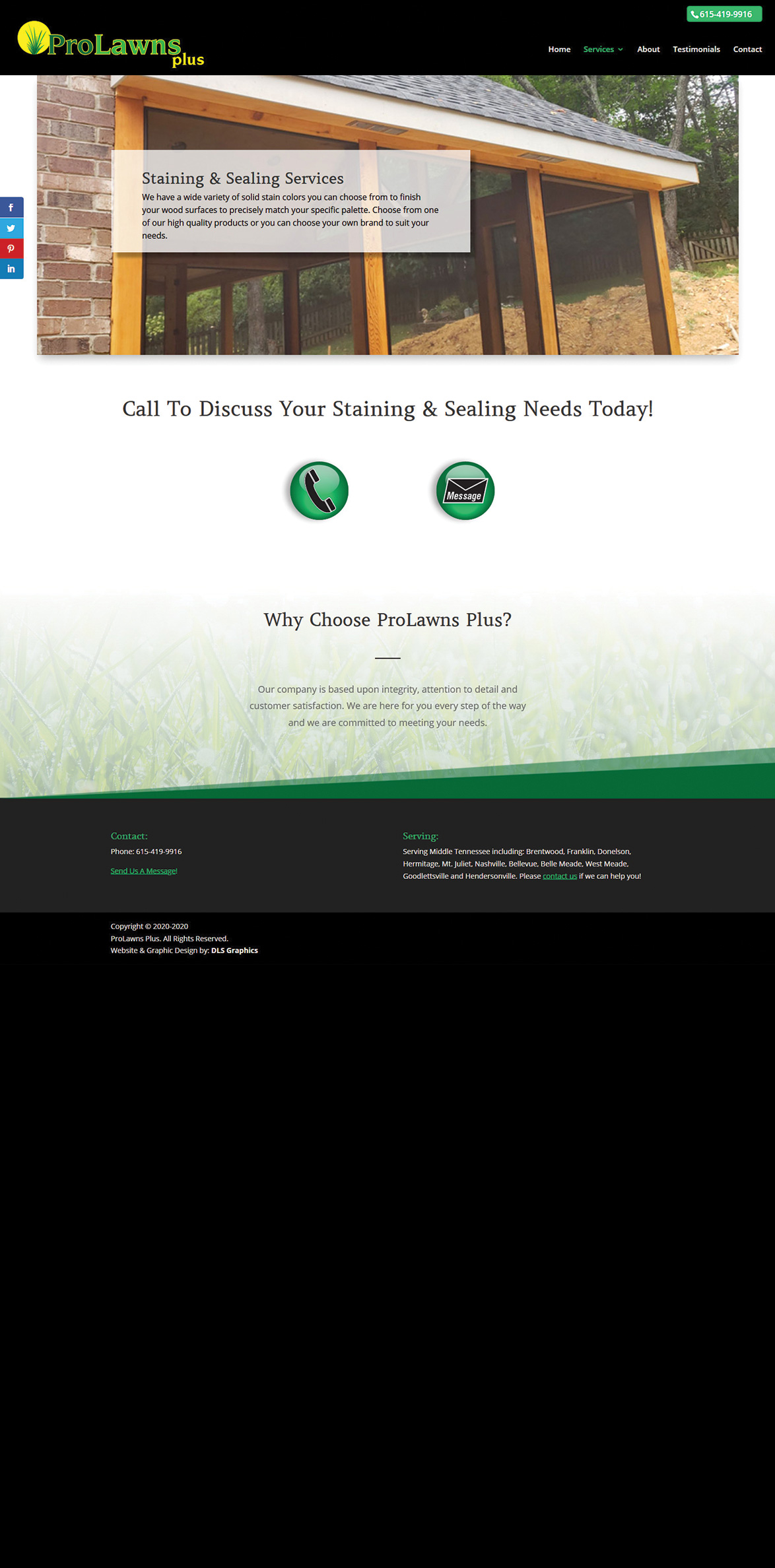 ProLawns Plus-Staining and Sealing Services