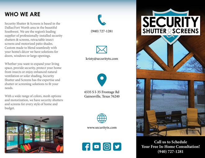 Security Shutter & Screens Brochure - Outside