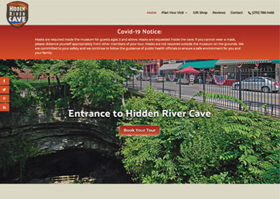 Hidden River Cave – Nonprofit Kentucky Website